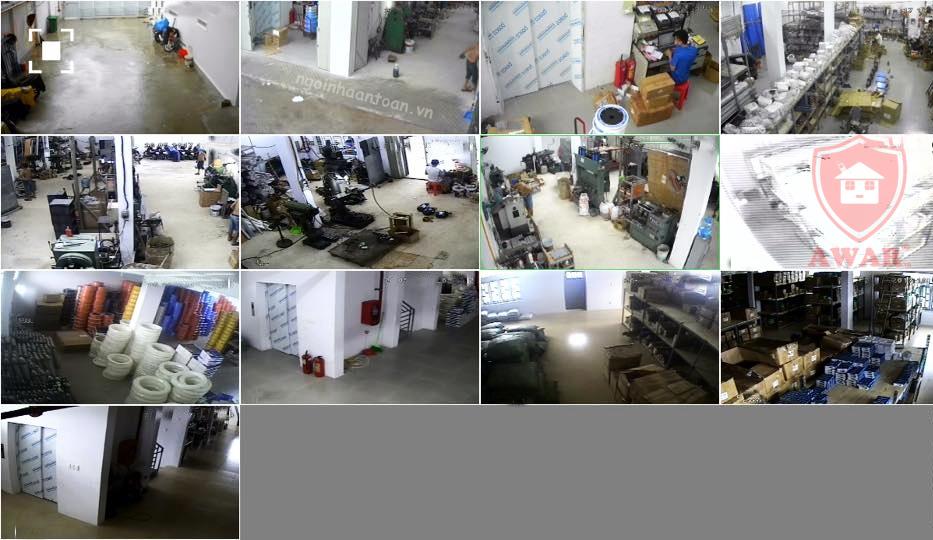 Trọn gói 13 camera, giám sát toàn bộ 1 xưởng sản xuất