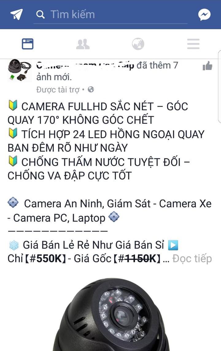 Camera kém chất lượng, trôi nổi trên thị trường